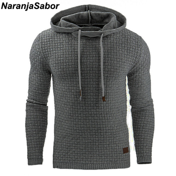 NaranjaSabor 2018 Autumn Men's Hoodies Slim Hooded Sweatshirts Mens Coats Male Casual Sportswear Streetwear Brand Clothing