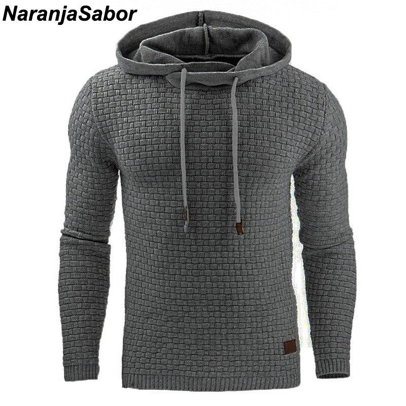 NaranjaSabor 2018 Autumn Men s Hoodies Slim Hooded Sweatshirts Mens Coats Male Casual Sportswear Streetwear Brand