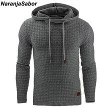 Naranjasabor 2018 осень Для мужчин толстовки Тонкий толстовки с капюшоном Для мужчин s пальто мужской Повседневное Спортивная уличная брендовая одежда N461