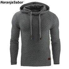 88969edda88c NaranjaSabor 2019 осень Для мужчин толстовки Тонкий толстовки с капюшоном  Для мужчин s пальто мужской Повседневное Спортивная ул.