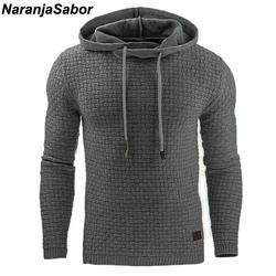 NaranjaSabor 2019 осень Для мужчин толстовки Тонкий толстовки с капюшоном Для мужчин s пальто мужской Повседневное Спортивная уличная брендовая