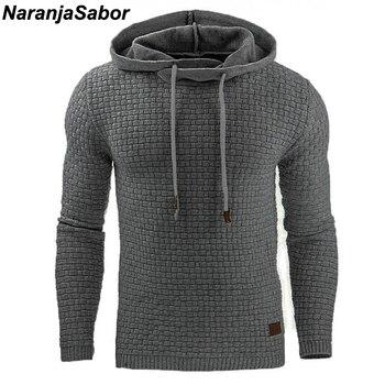 NaranjaSabor 2020 Autumn Men's Hoodies Slim Hooded Sweatshirts Mens Coats Male Casual Sportswear Streetwear Brand Clothing N461