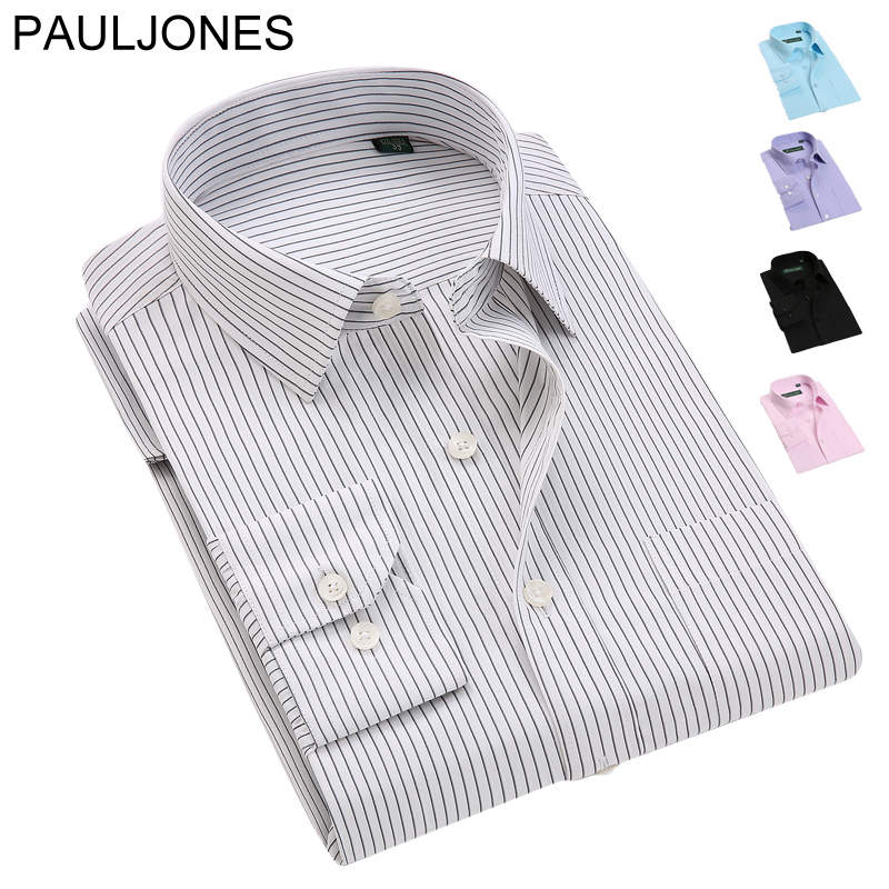 Men's brand dress shirts High quality striped long sleeve shirts Classic easy care business Formal shirts men Camisa Masculina