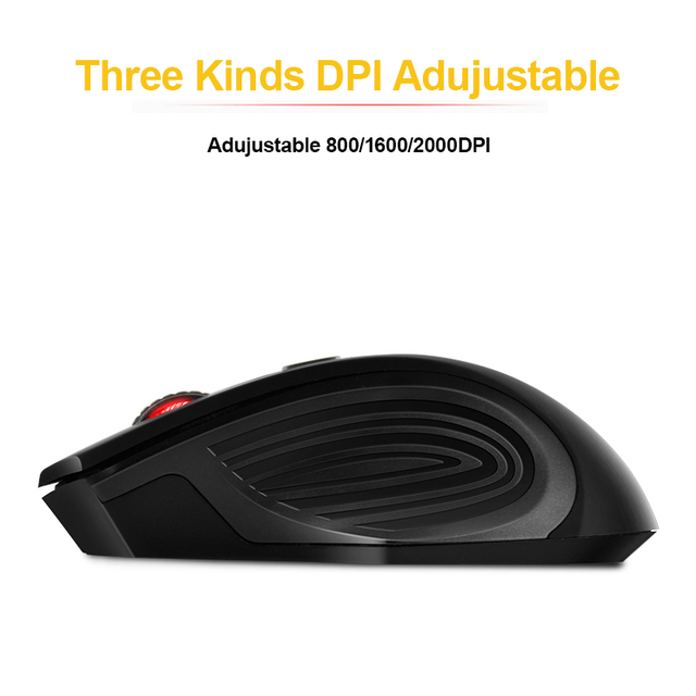 Adjustable Receiver Optical Computer Wireless Mouse (USB 3.0 )