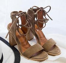 Open Toe Lace Heels Tassel Sandals Woman