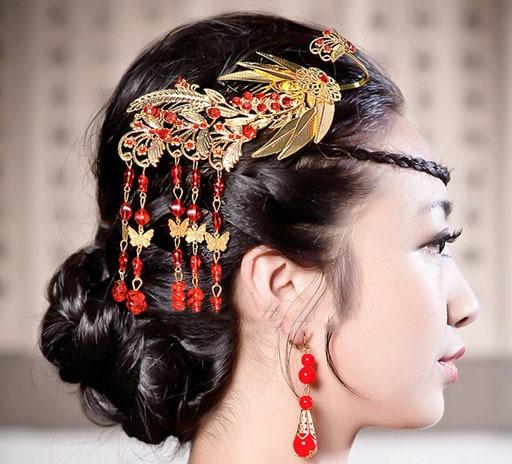 Wholesale Bridal Tassels Hair Comb Vintage Peacock Desogns