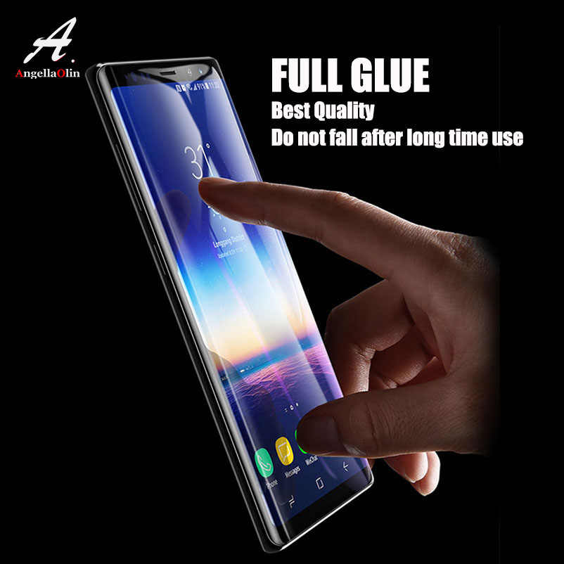 FULL GLUE Cover For Samsung galaxy s10 E Note 9 8 S9 S8 Plus S7 S6 Edge Screen Protector Tempered Glass Curved Edge Film 3D