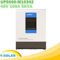 EPever UPower Series 5KVA Pure Sine Wave Solar Hybrid Inverter Charger MPPT 48V 220V 50HZ 60HZ Utility & PV Input UP5000 M10342
