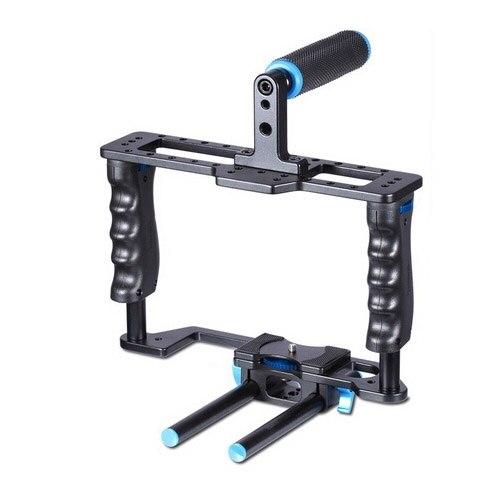 YELANGU YLG0107E-A Professionnel De Protection Cage Poignée Stabilisateur Top Set Pour Canon Nikon Sony et D'autres Appareil Photo REFLEX NUMÉRIQUE