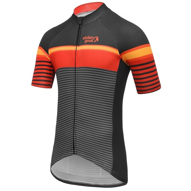 Stolen goat Striped Cycling Jersey short sleeve bicycle clothing Summer Line pattern maillot homme quick dry t shirt road bike 1