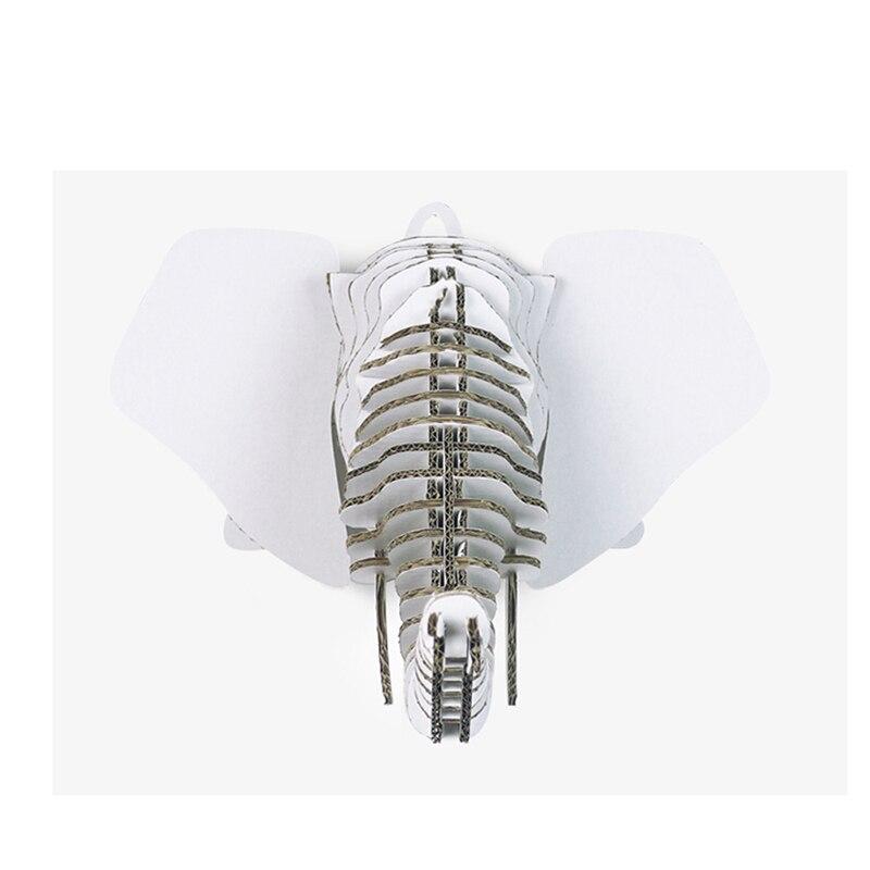 3d голова слона животных модель papermaker Головоломки ремесло творческих настенные украшения подходят Офис Экологичные Стиль подарки
