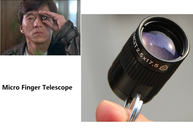 2.5x17.5 thumb ring telescope purple film monocular 2.5x telescope