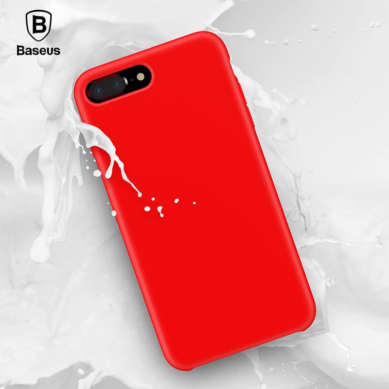 Baseus Original Official Liquid Silicone Case For iPhone 7 8 Fashion Candy Color Phone Case For iPhone 7 Plus 8 Plus Cover