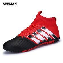 2017 Brand Men's High Top Soccer Cleats Boots Outdoor Football Shoes Women Unisex AG Botas de Futbol Boys Soccer Shoes Original