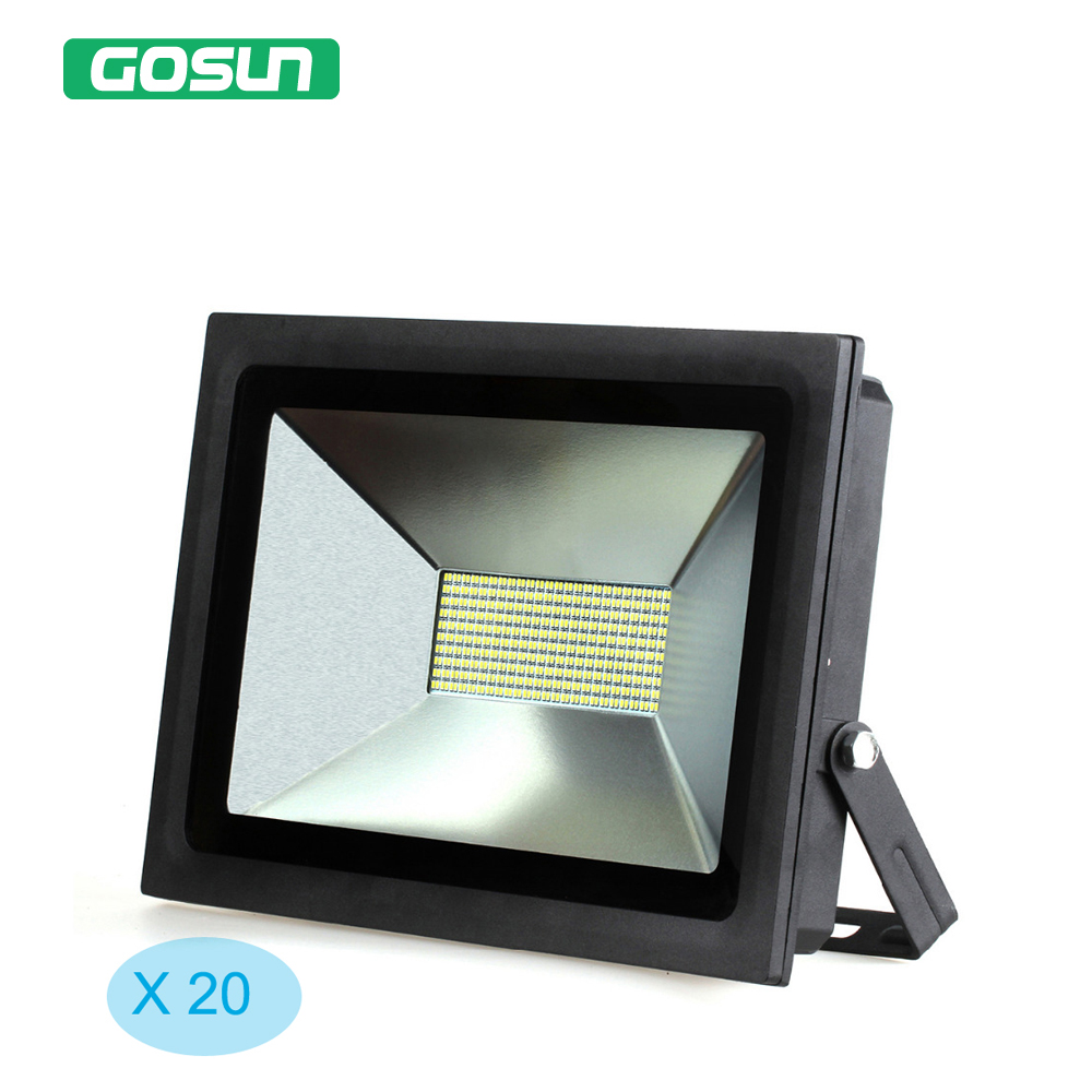 ФОТО 20 pcs 100W LED Floodlight Warm /Cold White Waterproof IP65 LED Flood Light Outdoor Wall Lamp