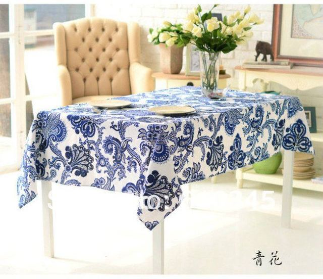Free Shipping Hot Selling Linen Cotton Chinese Art Printing Tablecloth With  Decoration 140x180cm Table Cover Table