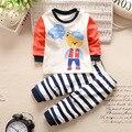 2016 Bebés Que Arropan otoño Infantil de dibujos animados Bebé Recién Nacido Niñas Ropa niños ropa niños de manga larga camisetas niños