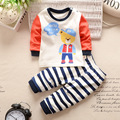 Conjunto de Roupas 2016 Meninos outono Infantil dos desenhos animados Do Bebê Recém-nascido Meninas Roupas crianças roupas crianças camiseta de manga longa meninos