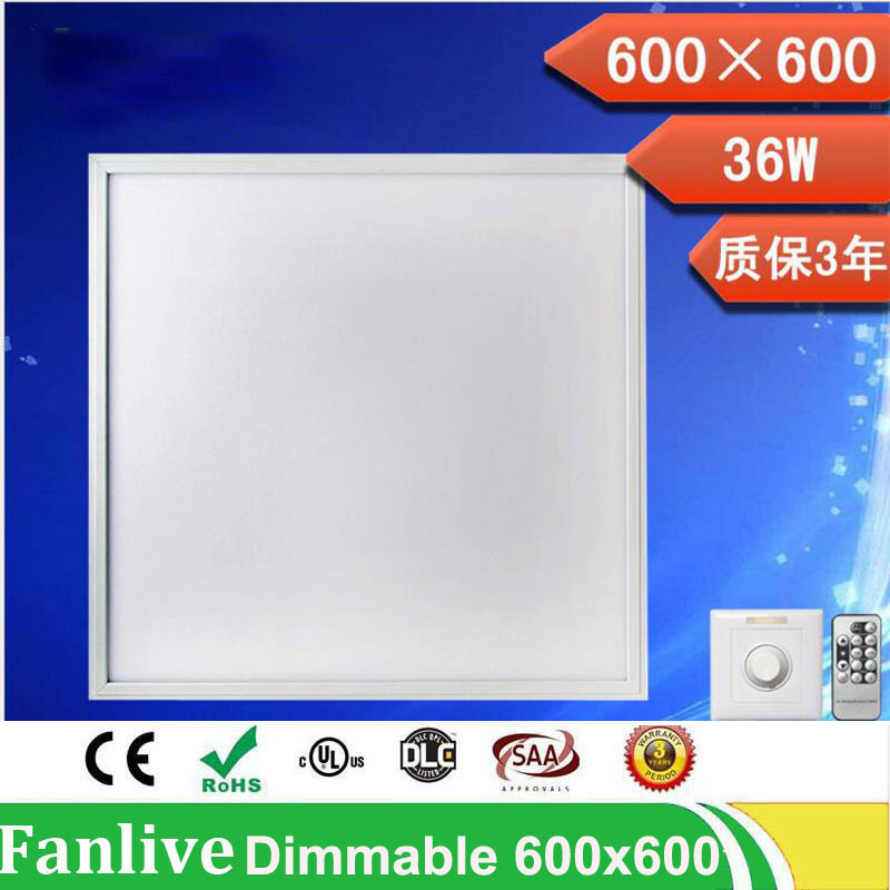 4pcs/lot 20W 300*300mm 36w 48w 72w 600*600 Dimmable Led Panel Light 110v 220v Led Panel Lamp SMD2835 Office/Home/Hotel Lighting цена