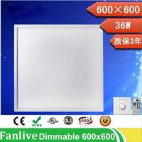 4pcs/lot 20W 300*300mm 36w 48w 72w 600*600 Dimmable Led Panel Light 110v 220v Led Panel Lamp SMD2835 Office/Home/Hotel Lighting
