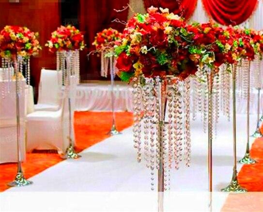 353 33 Table Top Cristal Lustre Passerelle Stand Mariage Grande Fleur Stands Centres De Table Pour Les Mariages In Accessoires De Fete Lumineux
