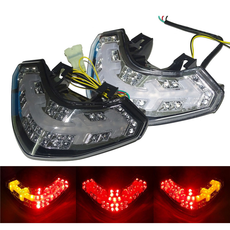 waase For Ducait Multistrada 1200 1200S 2010 2011 2012 2013 2014 2015 Rear Tail Light Brake Turn Signals Integrated LED Light a3 1200s 1230989