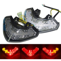 waase For Ducait Multistrada 1200 1200S 2010 2011 2012 2013 2014 2015 Rear Tail Light Brake Turn Signals Integrated LED Light