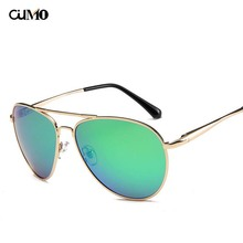Ou Mo brand Pilot zonnebril dames polarized Sunglasses Women/Men Reflective For Women Men flat lens sun glasses UV400