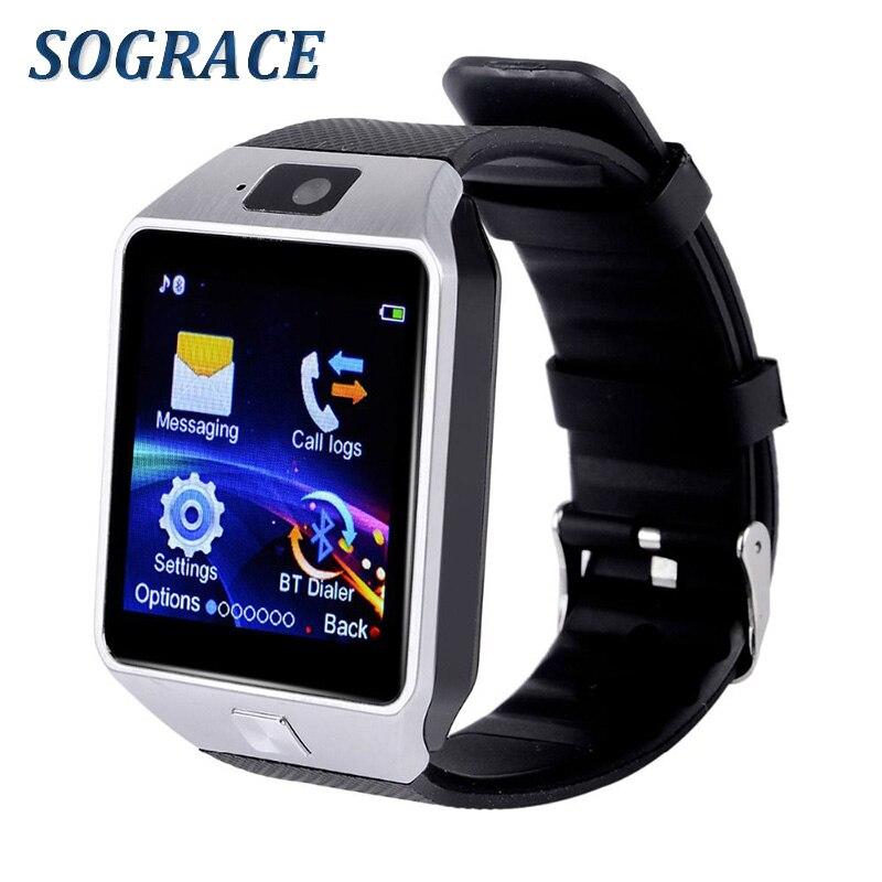 Sograce DZ09 Bluetooth Montre Smart Watch Pour Android Xiaomi HTC Samsung iPhone iOS Caméra SIM Slot Sport Fitness Tracker pour Unisexe