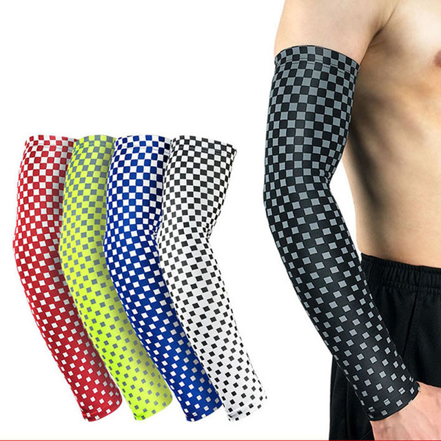 24644b9377 1Pcs Arm Warmer Bike Basketball Elastic Compression Arm Sleeves Cycling Sun  uv Protective Armbands for Outdoor Sport Hiking
