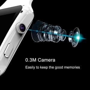 Image 2 - Neue Ankunft X6 الذكية Uhr mit كاميرا حامل شاشة تعمل باللمس سيم TF كارت بلوتوث هاتف الساعة الذكي ساعة ios smartwatch الرجال DZ09