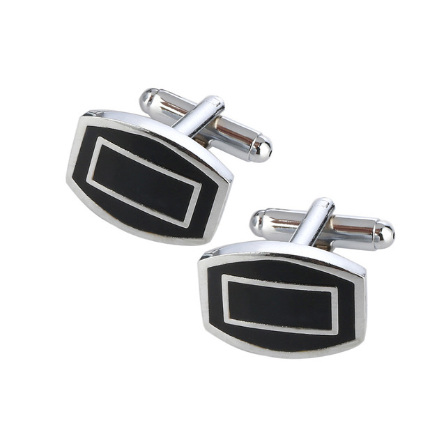 18 Silver Color Cufflinks Mens Shirt Cuff Button Laser Plating Link Gemelos Wedding Jewelry