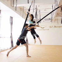 elastic aerial yoga fly yoga belts rope swing multifunction anti gravity resistance training fitness body building for sporting