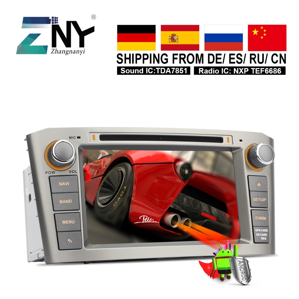 Android 8.0 Double Din Auto GPS Radio For Toyota Avensis T25 2003 2004 2005 2006 2007 2008 Car DVD Audio Video Navigation System fuel pump assy 23100 28032 2310028032 for toyota avensis t25 2 0i