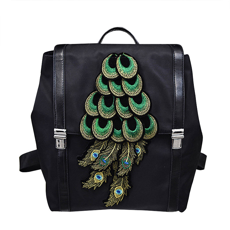 New Female Package Fashion National Wind Peacock Oxford Leisure Students Women Travel Backpack Schoolbag Computer Bag dermis women bag 2016 new leisure backpack camouflage personalized backpack korea institute of wind schoolbag