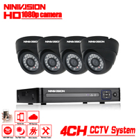 CCTV System 1080P Full HD 4CH DVR 4pcs 2 0MP 3000TVL Dome Security Camera 24pcs IR