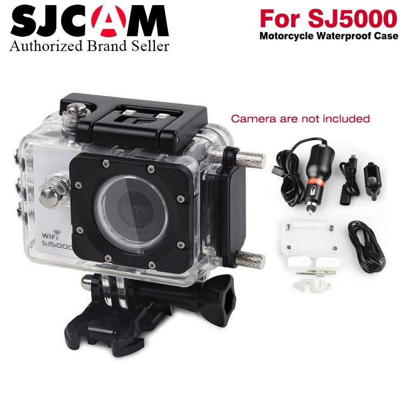 SJCAM Brand Motorcycle Waterproof Case for Original SJCAM SJ5000 Series for SJ4000 Series Charging Case for SJ5000 Plus WiFi