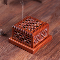Chinese Style Zen Incenso Burners Incense Holder Aroma Burner Rosewood Carving Lying Censer Classical Hollow Tea Culture Quality