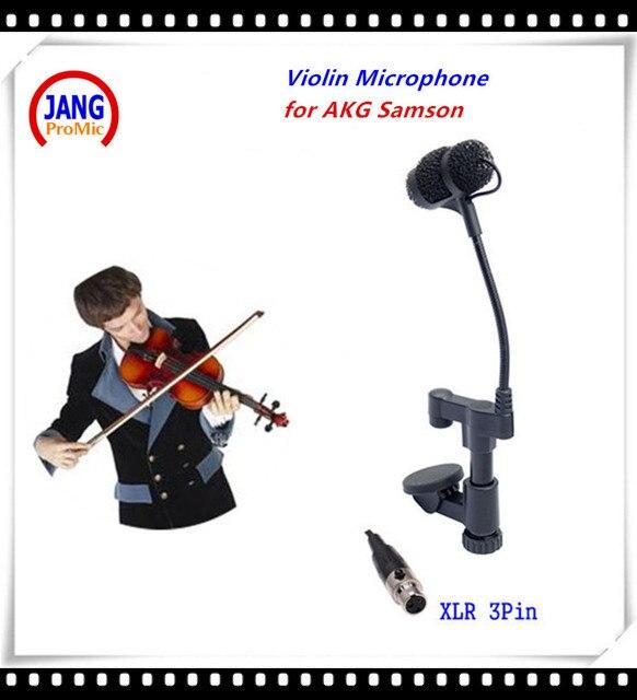 Профессиональный Инструмент Mikrofone Мандолиной Альт Скрипка Микрофон для AKG Самсон Беспроводной Передатчик Системы XLR 3Pin Microfon
