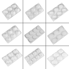 15 Shapes White Mousse Mold Food Grade Silicone Cake Mold 6/8 Holes French Dessert Mold Cake Baking Moulds Cake Decorating Tool