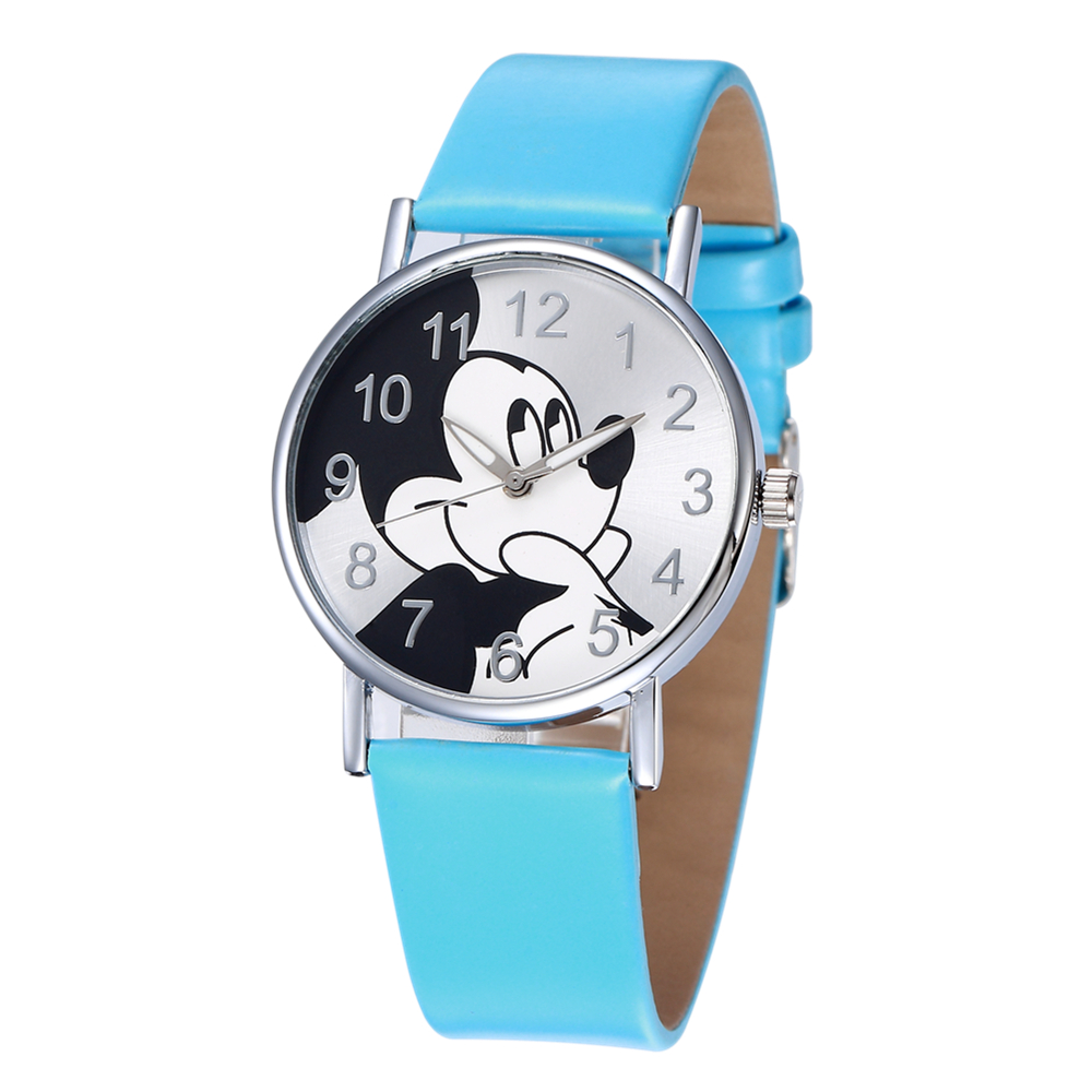 Fashion Minnie Mickey Mouse Women Watch Cartoon Women's Quartz Watches Ladies Casual Watch Women Leather Gifts Clock Reloj Mujer