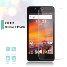 2.5D 0.26mm Ultra Thin Tempered Glass Fly Stratus 7 FS458 Toughened Screen Protector Film Protective Screen Case Universal мобильный телефон fly fs458 stratus 7 black