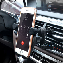 DuDa Universal Mobile Phone Support Car Air Vent Holder for iPhone 8 X 7 6S Mount Stand 360 Degree Ratotable Telephone