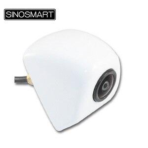 Image 2 - SINOSMART, en Stock, ángulo de vista panorámica, cámara de estacionamiento Universal, respaldo de marcha atrás para coche, entrada de 5V 28V CC con 7 colores opcionales