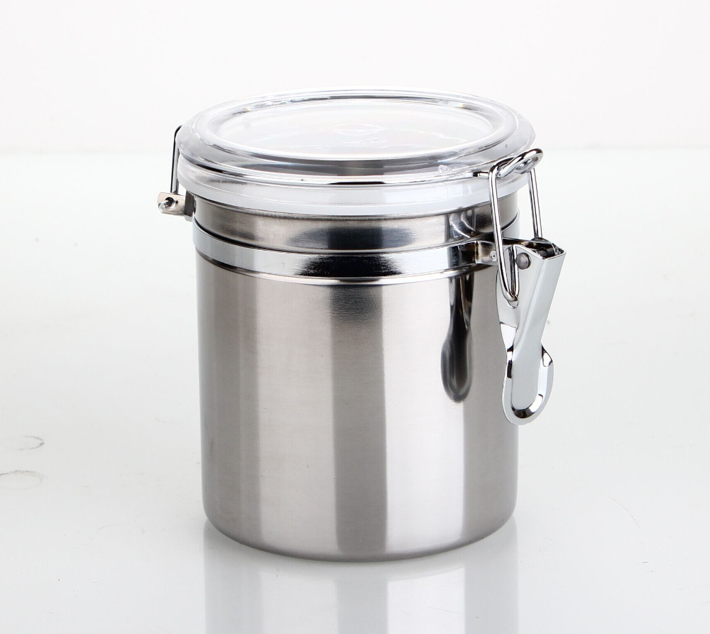 Black Kitchen Storage Jars Aliexpresscom Buy Stainless Steel Airtight Canister Clamp