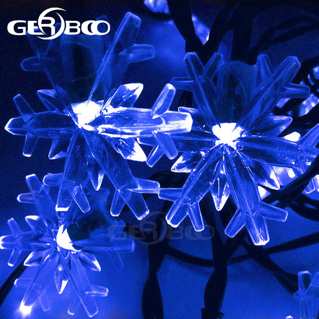 Solar Snowflake Fairy String Lights For Christmas Garden Fence Path Landscape Decoration 2pcs Lot