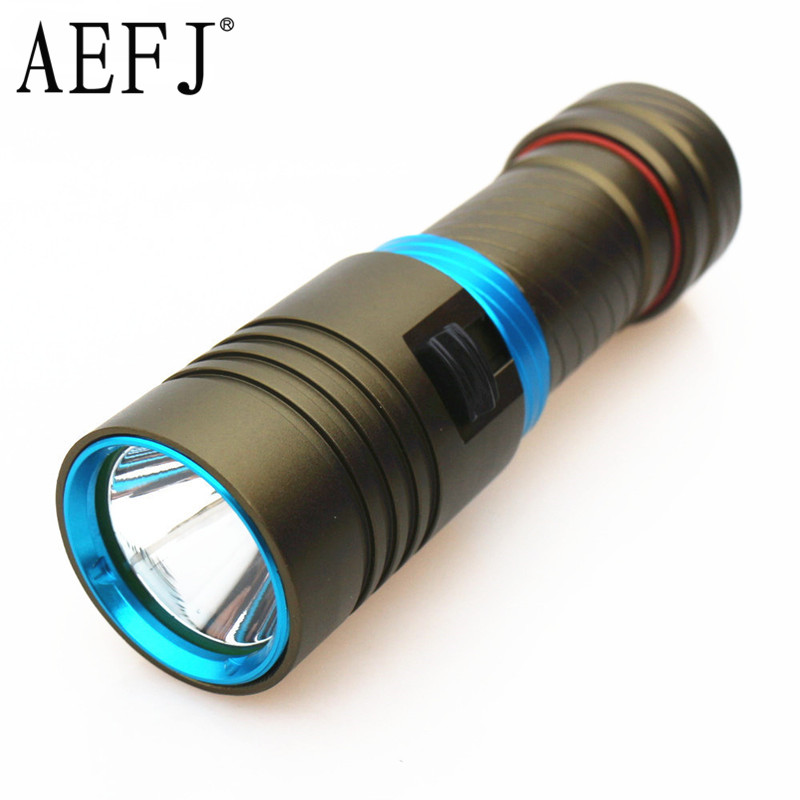 XM-L2 Waterproof Dive Underwater 80 Meter LED Diving Flashlight Torches Lamp Light Camping Lanterna With Stepless Dimming