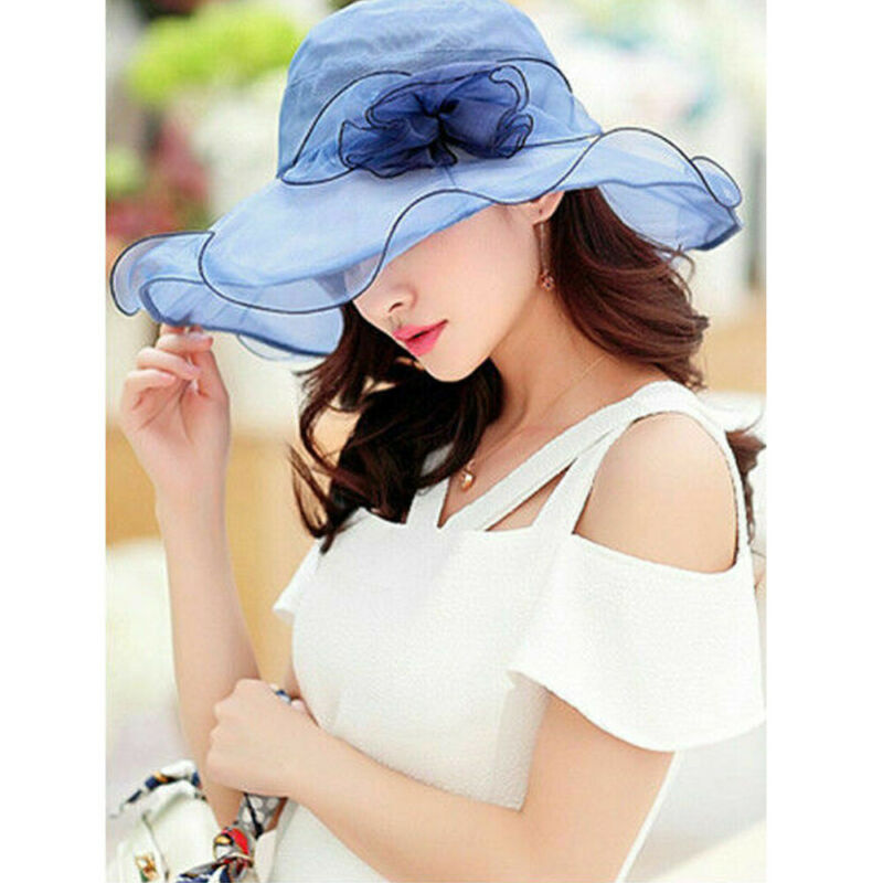 Hot Fasion Women Wedding Formal Church Organza Wide Brim Hat Fedoras in Women 39 s Fedoras from Apparel Accessories