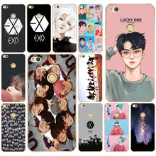 132DD Kpop exo Lucky one Hard Transparent Cover Case for Huawei p8 P20 honor 9 Lite mate 10 pro y6 y5 2017(China)