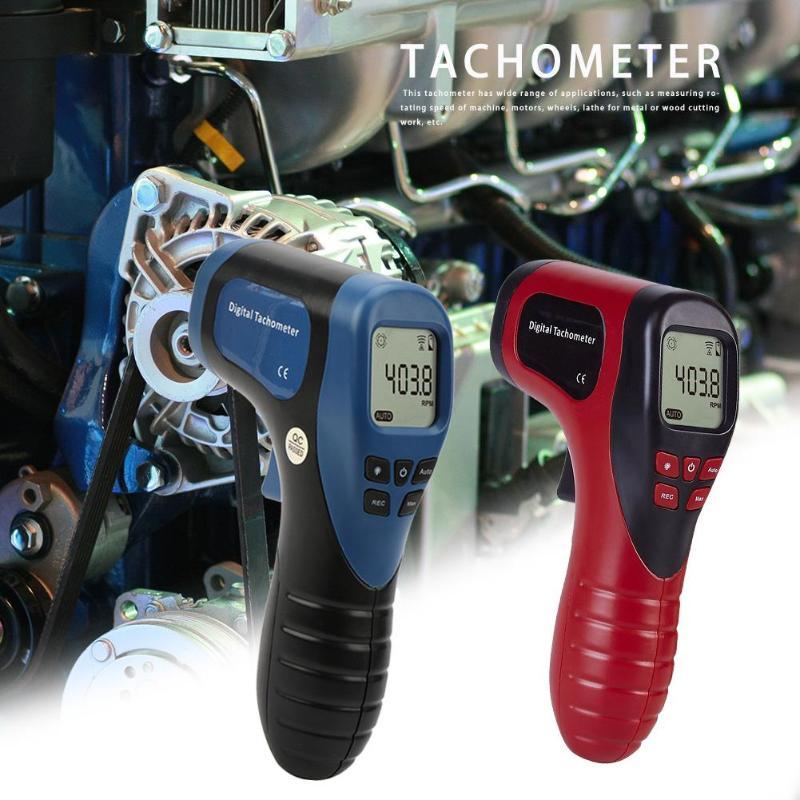 Aletler'ten Hız Ölçme Cihazları'de TL 900 takometre lazer dijital takometre temassız ölçüm aralığı: 2.5 99999RPM Motor tekerlek torna hız ölçer title=